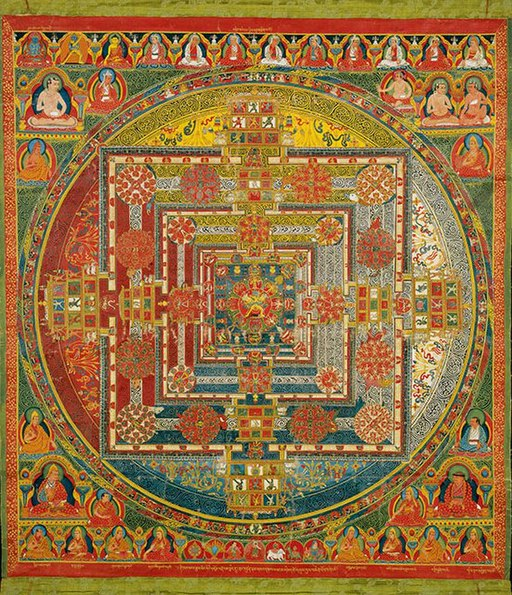 Mandala Depicting Kalachakra and Vishvamata, Tibet