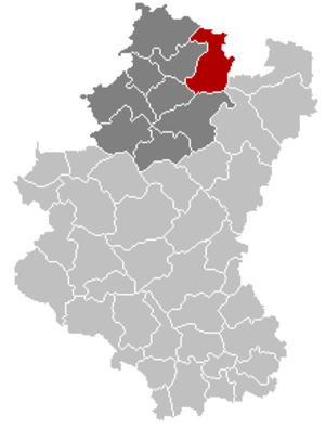 Manhay - Image: Manhay Luxembourg Belgium Map