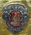Manifattura toscana, piviale in moiré di seta, 1750-75 ca., da s.piero in mercato, stemma.JPG