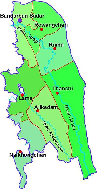 Bandarban District - Map of Bandarban District