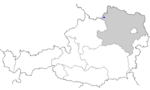 Map of Austria, position of Bad Großpertholz highlighted