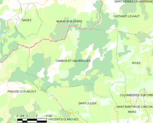 Cambon-et-Salvergues - Map