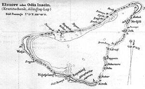Ailinglaplap Atoll - German map of Ailinglaplap