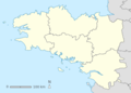 Map of Brittany with 5 regions Llydaw Breizh.png