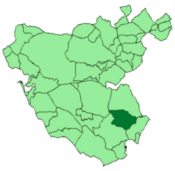 Location of Castellar de la Frontera