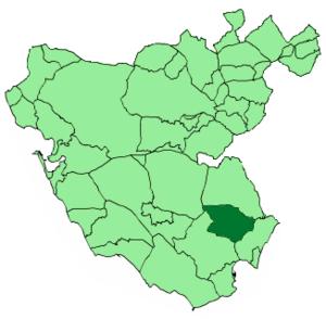Castellar de la Frontera - Image: Map of Castellar de la Frontera (Cádiz)