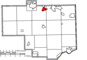 Leetonia, Ohio - Image: Map of Columbiana County Ohio Highlighting Leetonia Village