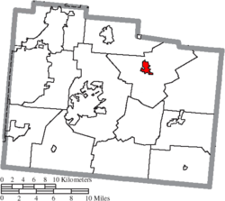 Location of Cedarville in Greene County