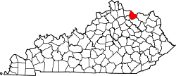 Map of Kentucky highlighting Mason County.svg