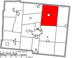 Location of Rushcreek Township in Logan County