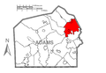 Map of Reading Township, Adams County, Pennsylvania Highlighted.png