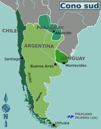 Patagonia Cartina Geografica.Cono Sud Wikivoyage Guida Turistica Di Viaggio