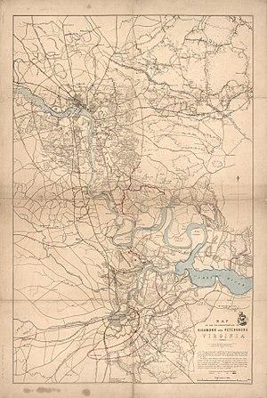 Port Walthall - Image: Map of the neighbourhood of Richmond and Petersburg, Virginia