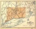Map of the railroads of Connecticut to accompany the report ... 1893. Prepared by S. D. Tilden, Hartford. LOC 98688453.tif