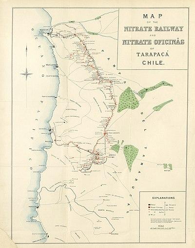 List of saltpeter works in tarapac and antofagasta for Ubicacion de las oficinas