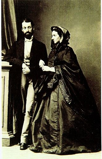 August Czartoryski - His parents c. 1860s.
