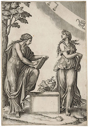 Astrology - Marcantonio Raimondi engraving, 15th century