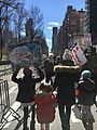 March for Our Lives 24 March 2018 in NYC 14, mother with her kids, Central Park West, Manhattan.jpg