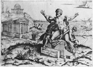 Marco Dente - Fig. 1 Marco Dente, Laocoön, 1519
