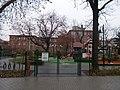 Margareta playground and Hegyvidék Town Hall. - Margaréta street, Budapest XII.JPG