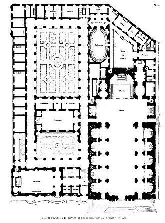Santa Maria in Vallicella - Plan of the Church and Monastery