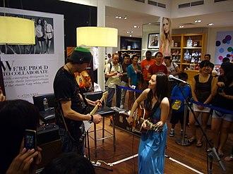 Marié Digby - Marié Digby performing in Singapore