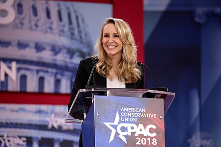 Marion Maréchal speaking at the 2018 Conservative Political Action Conference (CPAC) in National Harbor, Maryland.