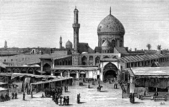 Ibn Qudamah - An 1876 wood-engraving of the market-places of Baghdad by John Philip Newman; Ibn Qudamah visited this city three times in his life, having studied and taught in many of its most prominent areas in 1166, 1189, and 1196