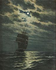 Navire au clair de lune