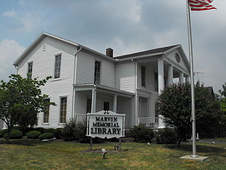 Shelby, Ohio - Marvin Memorial Library in Shelby