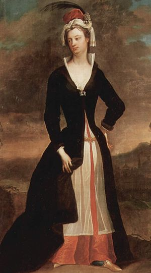 Charles Jervas - Portrait of Lady Mary Wortley Montagu, 1716 by Charles Jervas currently on display at the National Gallery of Ireland in Dublin.
