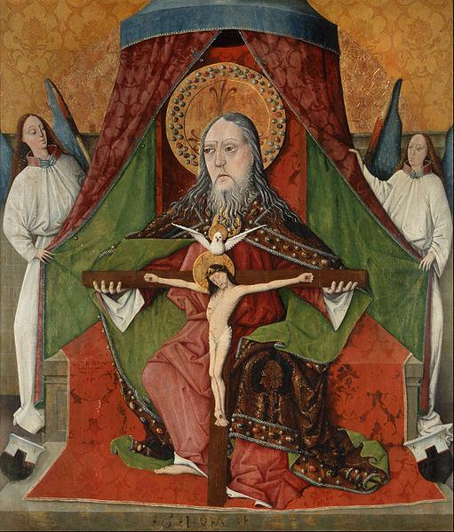 File:Master Gh - Holy Trinity, Central Panel from the High Altar of the Trinity Church, Mosóc - Google Art Project.jpg