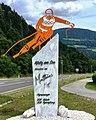 Mathias Mayer 2-fach Olympiasieger 2014, 2018 Statue, Afritz am See, Kärnten.jpg