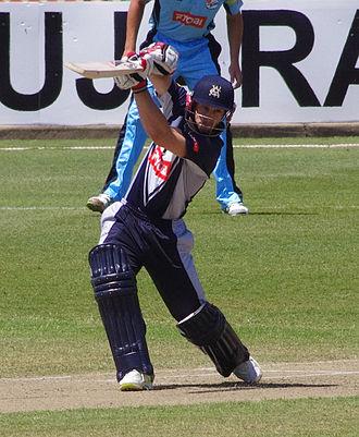 Matthew Wade - Wade batting for Victoria in 2011.