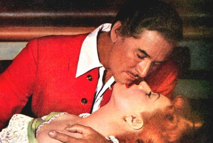 Maureen O'Hara and Errol Flynn