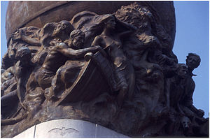 Frederick William Sievers - Details atop the Maury Monument, Richmond, Virginia.