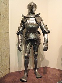 Maximilian field armor, Southern Germany, circa 1525-1530 - Higgins Armory Museum - DSC05485.JPG