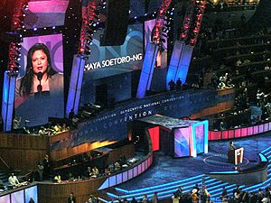 Maya Soetoro-Ng - Soetoro-Ng speaking during the first day of the 2008 Democratic National Convention in Denver, Colorado.