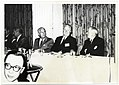 Mayor John F. Collins attending a banquet with unidentified men (12190626086).jpg
