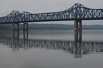 McClugage Bridge - McClugage Bridge from the east side of the Illinois River.