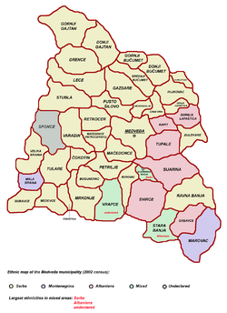 mapa leskovca Opština Medveđa — Vikipedija, slobodna enciklopedija mapa leskovca