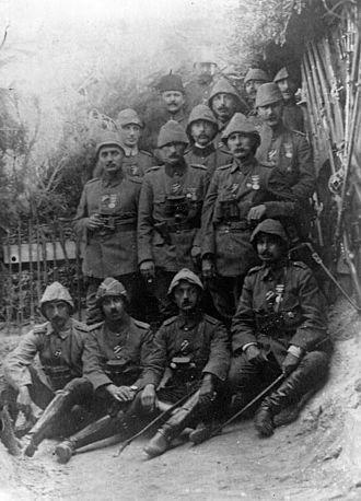 III Corps (Ottoman Empire) - Image: Mehmed Esad Pasha and his men