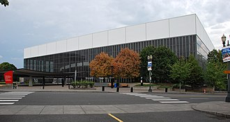 Veterans Memorial Coliseum (Portland, Oregon) - Exterior view of the arena (c.2013)
