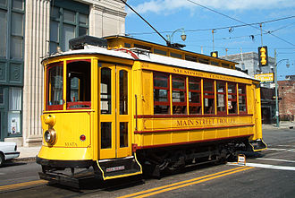 Heritage streetcar - A former Porto trolley in Memphis, Tennessee, United States