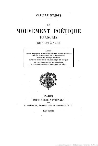 File:Mendès - Le Mouvement poétique français de 1867 à 1900, 1903.djvu