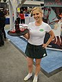 Merlotte's waitress serving Tru Blood at the IDW booth.JPG