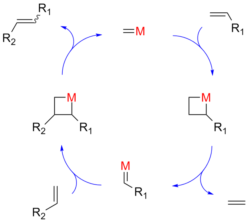 ring closure metathesis mechanism The electrocyclic ring closure is is designated by blue arrows, and the ring opening by red arrows once again, the number of curved arrows that describe the bond reorganization is half the total number of electrons involved in the process.