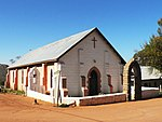 This church was erected in 1855. It was the third church to be built at the Leliefontein mission station, which was founded by Barnabas Shaw in 1816. The church, in the predominantly neo-Gothic style, and the manse together form an important historic and Type of site: Parsonage, Church. This church was erected in 1855. It was the third church to be built at the Leliefontein mission station, which was founded by Barnabas Shaw in 1816. The church, in the predominantly neo-Gothic style, and the manse together form an important historic and