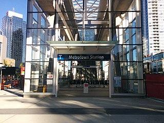 Metrotown station Metro Vancouver SkyTrain station