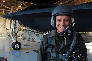Michael Harwood (RAF officer) - Michael Harwood visiting the Whiteman Air Force Base, Missouri, United States.